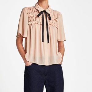 Zara ruffle blouse with bowl